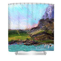 Mountain Fenceline Shower Curtain
