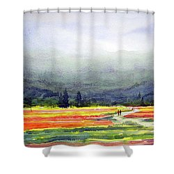 Mountain Flowers Valley Shower Curtain