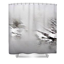 Mountain Fog - Alaska Shower Curtain