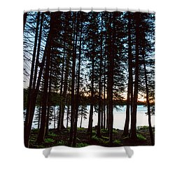 Shower Curtain featuring the photograph Mountain Forest Lake by James BO Insogna