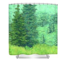 Mountain Greens Shower Curtain