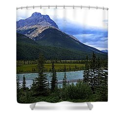 Mountain High Shower Curtain by Heather Vopni