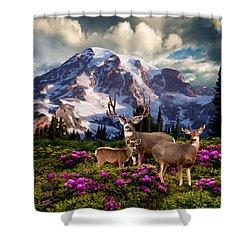 Mountain High Meadow Shower Curtain