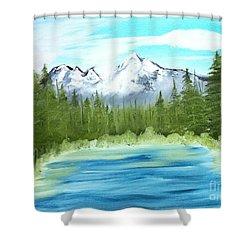 Mountain Imagining Shower Curtain