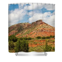 Mountain In Palo Duro Canyons Shower Curtain