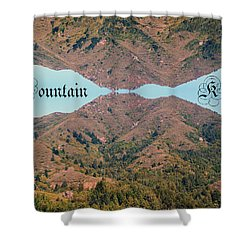 Mountain Kiss  Shower Curtain by Ben Upham III