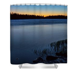 Mountain Lake Glow Shower Curtain by James BO Insogna
