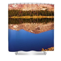 Shower Curtain featuring the photograph Mountain Lake Reflections by John De Bord