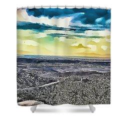 Mountain Landscape 7 Shower Curtain