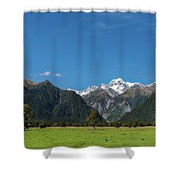 Shower Curtain featuring the photograph Mountain Landscape by Gary Eason