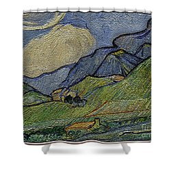 Mountain Landscape Shower Curtain by Pemaro