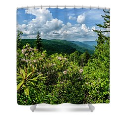 Shower Curtain featuring the photograph Mountain Laurel And Ridges by Thomas R Fletcher
