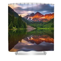 Shower Curtain featuring the photograph Mountain Light Sunrise by Darren White
