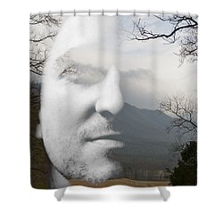 Mountain Man Shower Curtain by Christopher Gaston
