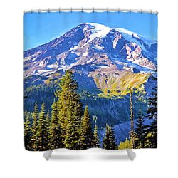 Mountain Meets Sky Shower Curtain