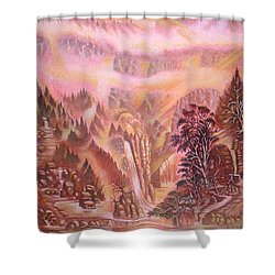Mountain Mist Shower Curtain