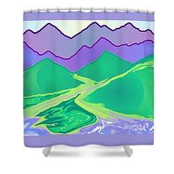 Mountain Murmurs Shower Curtain