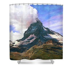 Shower Curtain featuring the photograph Mountain Of Mountains  by Connie Handscomb