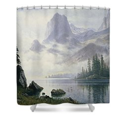 Mountain Out Of The Mist Shower Curtain by Albert Bierstadt