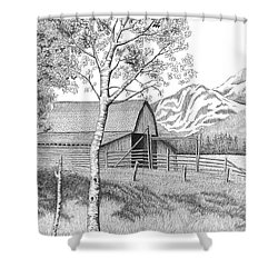 Mountain Pastoral Shower Curtain