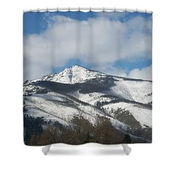 Mountain Peak Shower Curtain by Jewel Hengen