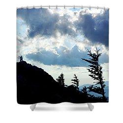 Mountain Peak Silhouette Shower Curtain