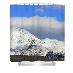 Mountain Peaks - Panorama Shower Curtain