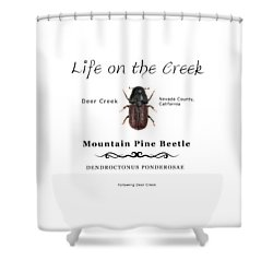 Mountain Pine Beetle Color Shower Curtain