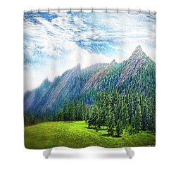 Mountain Pine Meadow Shower Curtain