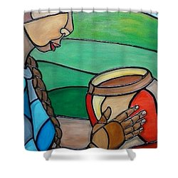 Mountain Potter Shower Curtain by Jenny Pickens