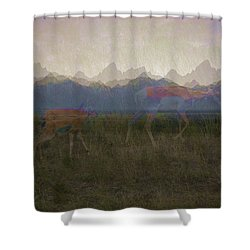 Mountain Pronghorns Shower Curtain