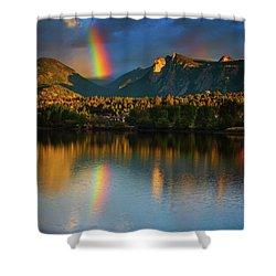 Mountain Rainbows Shower Curtain