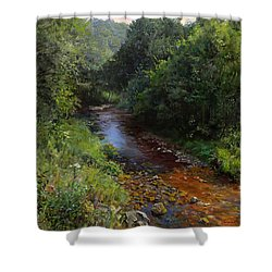 Mountain River Shower Curtain