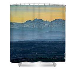 Mountain Scenery 12 Shower Curtain by Jean Bernard Roussilhe