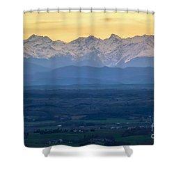 Mountain Scenery 15 Shower Curtain by Jean Bernard Roussilhe