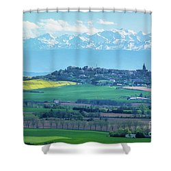 Mountain Scenery 17 Shower Curtain by Jean Bernard Roussilhe