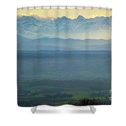 Mountain Scenery 18 Shower Curtain by Jean Bernard Roussilhe