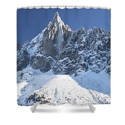 Mountain Scenery - Chamonix Shower Curtain by Pat Speirs