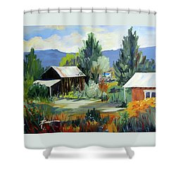 Mountain Settlement In New Mexico  Shower Curtain
