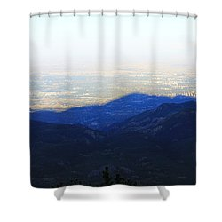Mountain Shadow Shower Curtain