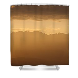 Shower Curtain featuring the photograph Mountain Shadows by Colleen Coccia