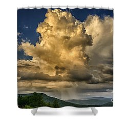 Mountain Shower And Storm Clouds Shower Curtain by Thomas R Fletcher