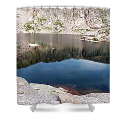 Mountain Side Reflection Shower Curtain