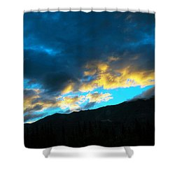 Shower Curtain featuring the photograph Mountain Silhouette by Madeline Ellis