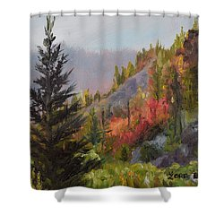 Mountain Slope Fall Shower Curtain