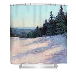 Mountain Stillness Shower Curtain by Vikki Bouffard