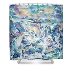 Mountain Storm Shower Curtain