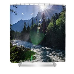 Mountain Sunburst Shower Curtain
