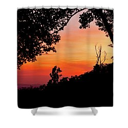 Shower Curtain featuring the photograph Mountain Sunrise by Meta Gatschenberger