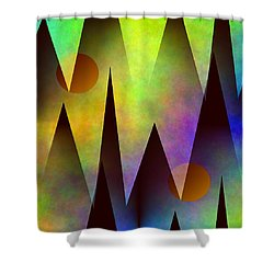Mountain Sunset Abstract Shower Curtain